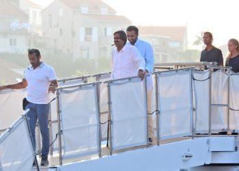 FOTO: Bivši katarski Šeik Hamad bin Khalifa na Jadranu (Sanjin Strukić/PIXSELL)