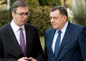 FOTO: Milorad Dodik i Aleksandar Vučić (SRDJAN ILIC/PIXSELL)