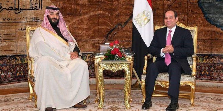 FOTO: Bin Salman, Sisi (EPA)