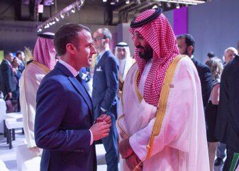 FOTO: E. Macron i MBS (BANDAR ALGALOUD/SAUDI ROYAL COURT / EPA)