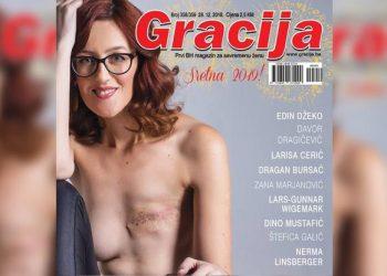 FOTO: Martina Mlinarević na naslovnici Gracije (Facebook/Martina Mlinarević)