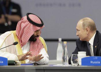 FOTO: MBS, Mohamed bin Salman, Vladimir Putin, G20, Argentina (TANJUG/AP)