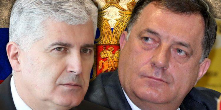 FOTO: Čović, Dodik (Graphic/logicno.ba)