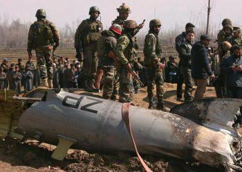 FOTO: Pakistan srušio indijski helikopter u Kašmiru, 28.2.2019. (DANISH ISMAIL/ REUTERS/ PIXSELL)