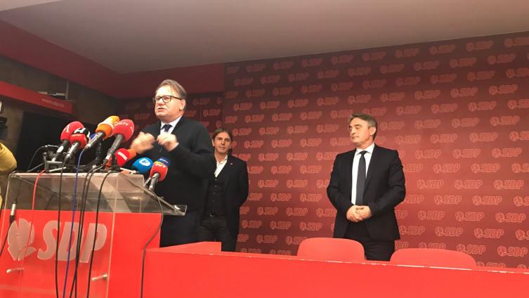 FOTO: Nikšić, Kojović, Komšić (Avaz)