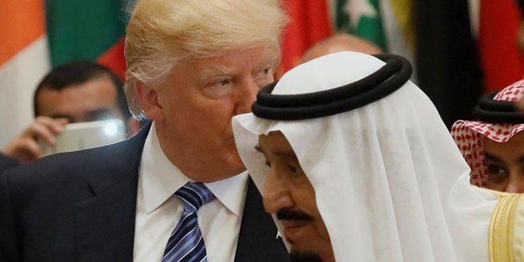 FOTO: Kralj Salman, Trump (Reuters Jonahtan Ernst)