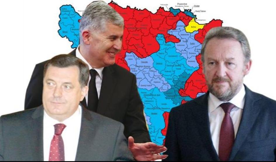 FOTO: Dodik, Čović Izetbegović (Fotomontaža, Beta/Tanjug/Reuters)