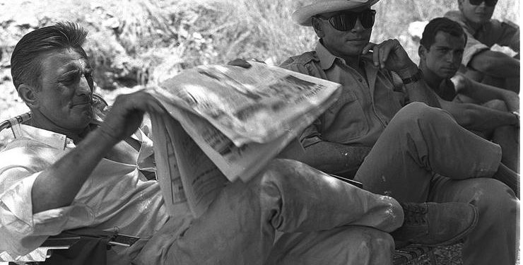 FOTO: Kirk Douglas na setu snimanja filma Giant Shadow (NATIONAL PHOTO COLLECTION OF ISRAEL)