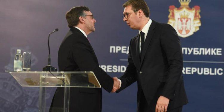 FOTO: Palmer, Vučić (Serbian Monitor)