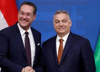 FOTO: Strache, Orban (BERNADETT SZABO/REUTERS/PIXSELL)