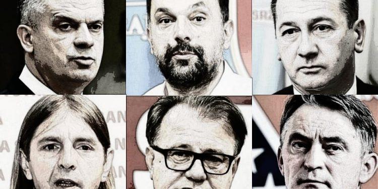 FOTO: Radončić, Konaković, Hadžibajrić, Kojović, Nikšić, Komšić (Graphic TBT)