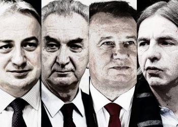 FOTO: Borenović, Šarović, Nikšić, Kojović (Graphic TBT)