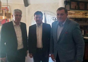 FOTO: Čović, Dodik, Lajčak (Agencije)