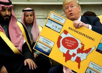 FOTO: Bin Salam, Trump (Jonathan Ernst/Reuters)