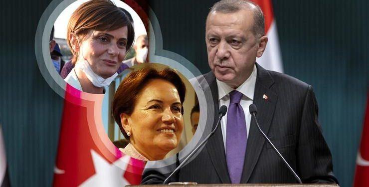 FOTO: Kaftancioglu, Aksener, Erdogan (ANADOLU/ ALI BALIKÇI, EPA/ TUMAY BERKIN)